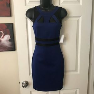 Dresses & Skirts - Royal blue dress with mesh details